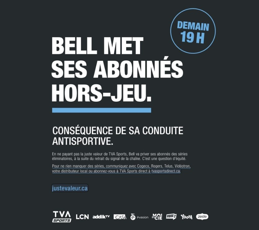Quebecor Versus Bell What Happens Next If Tva Sports Is Removed From Bell Tv Cartt Ca